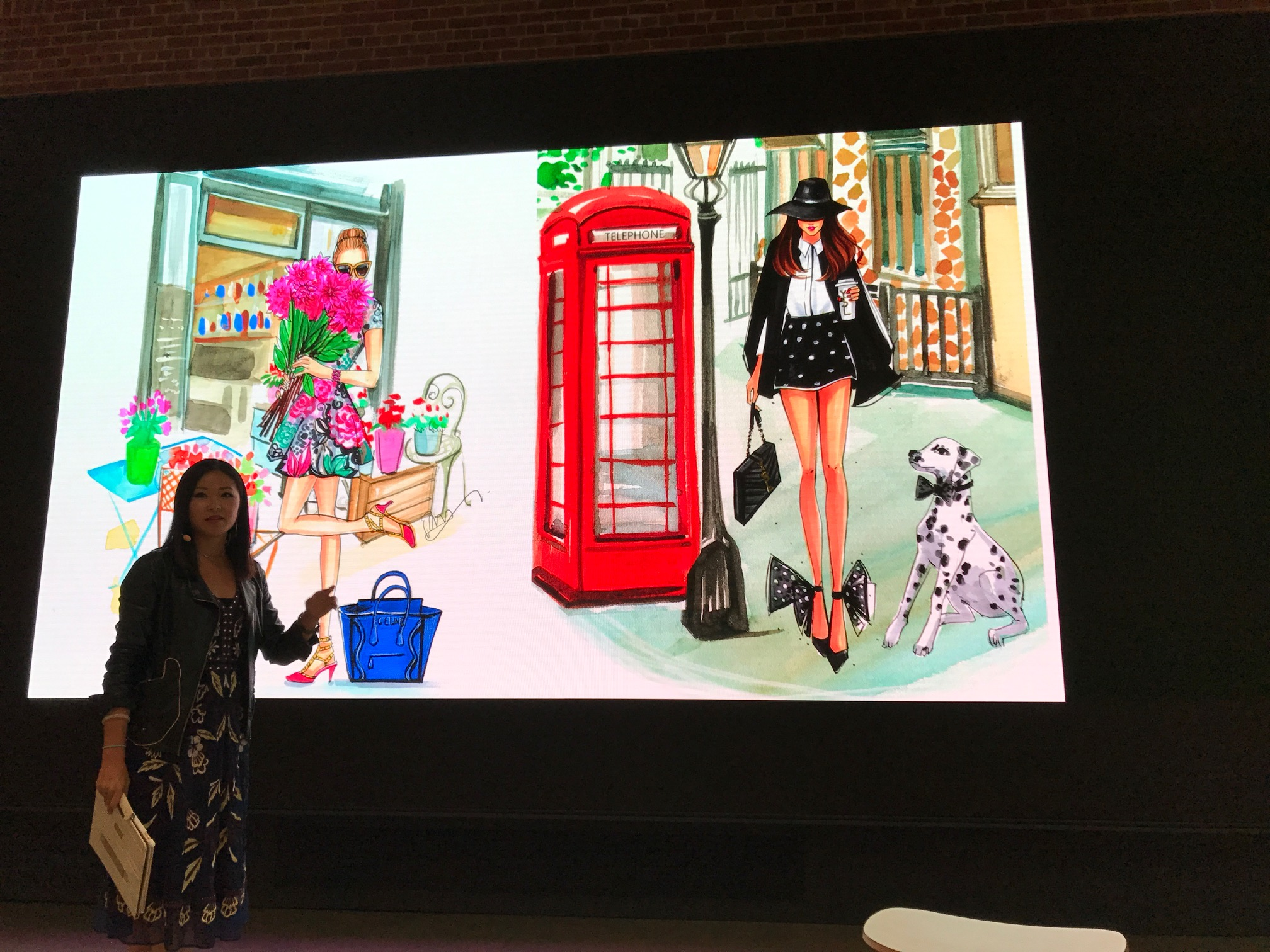 Fashion Illustrator Rongrong DeVoe share her story at Today At Apple