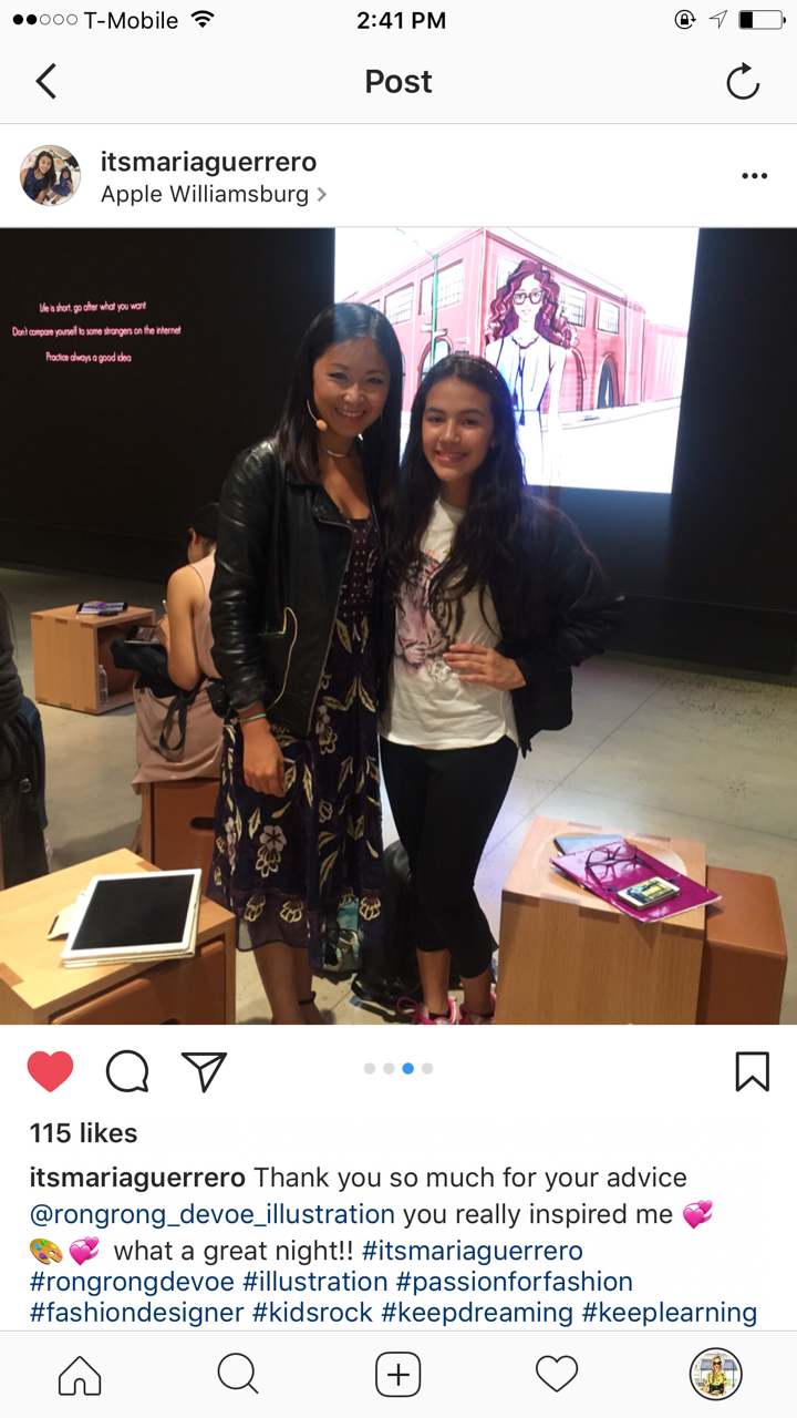 fashion illustrator Rongrong DeVoe with inspiring fashion student