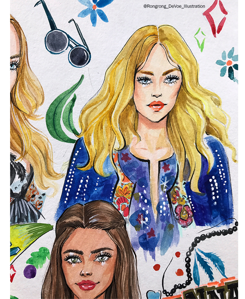 Rongrong DeVoe-fashion drawings inspired by Anna Sui SS18 collection.jpg