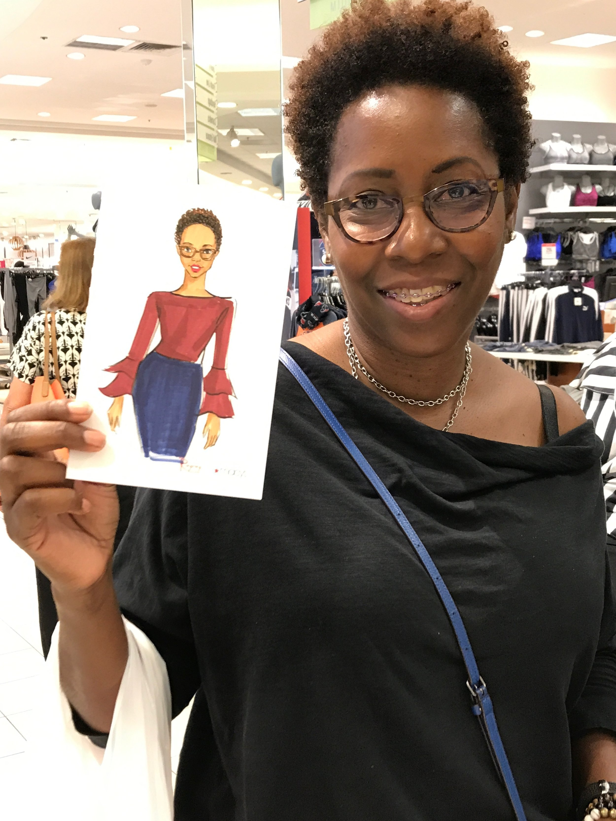 Rongrong DeVoe-Live fashion sketching customers at Macy's Houston Galleria.jpeg