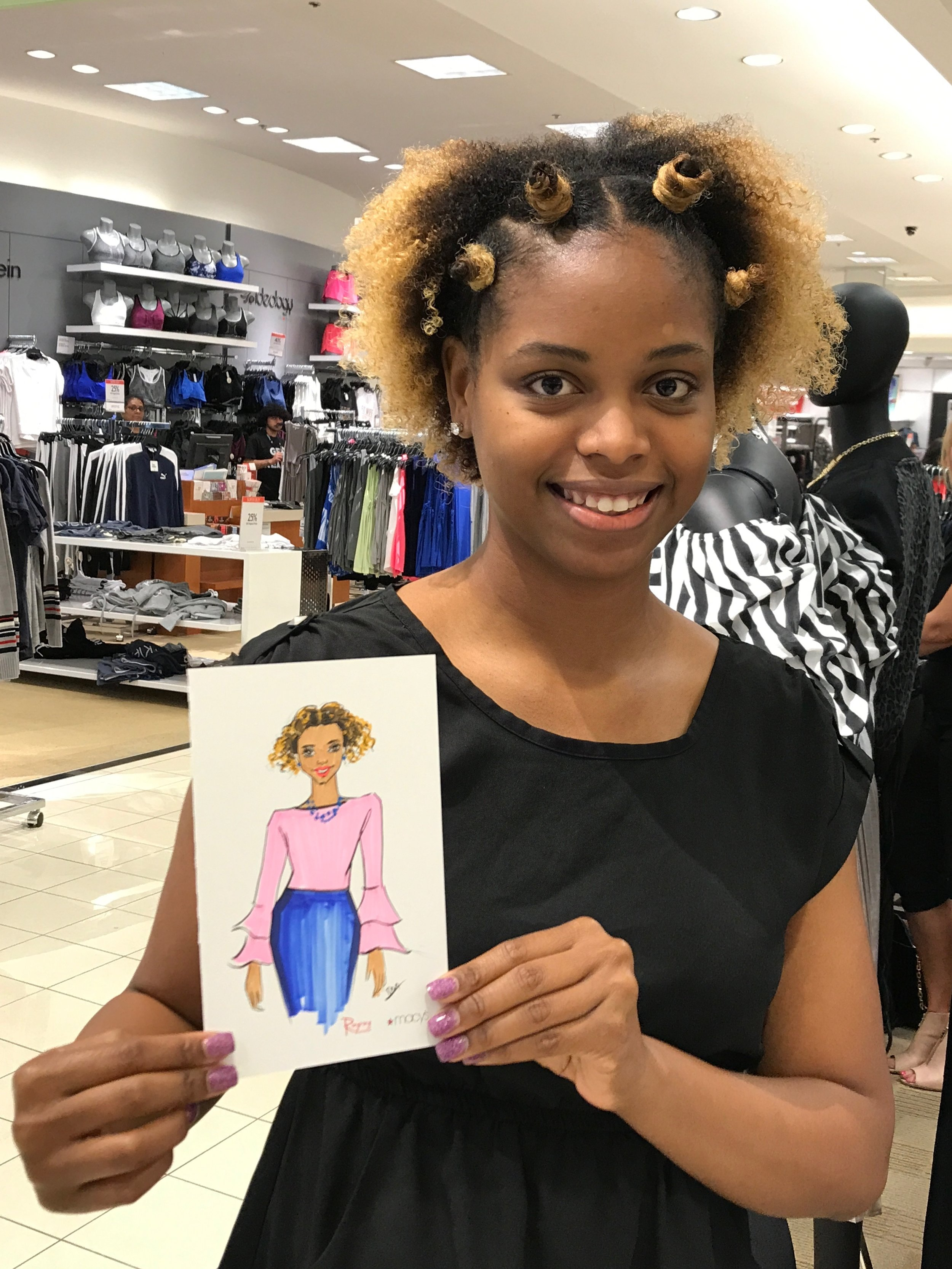 Rongrong DeVoe-Live custom sketch at Macy's Houston Galleria Fall Fashion Event.jpeg