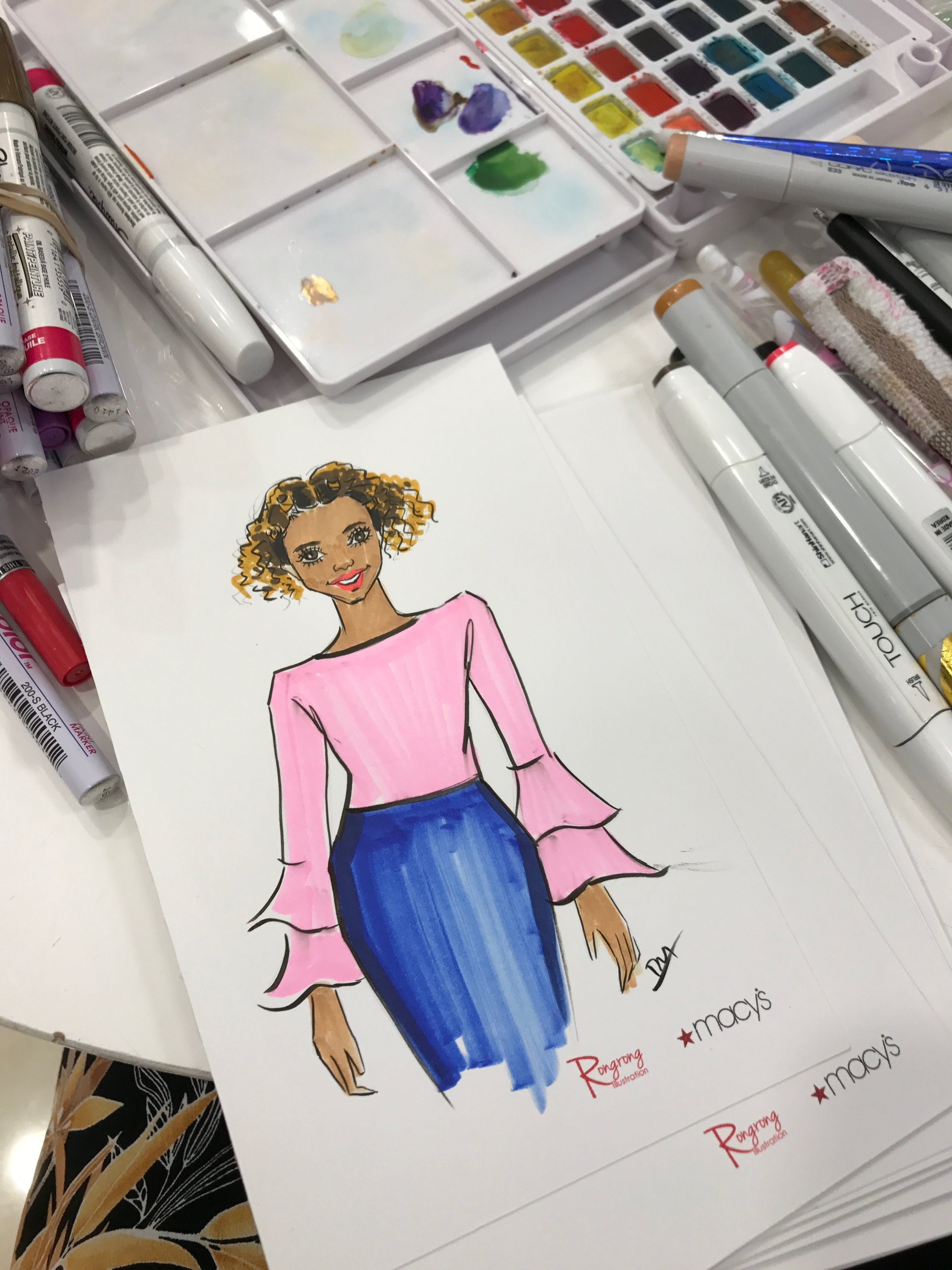 Rongrong DeVoe-Live sketching at Macy's Fall Fashion Event.jpeg