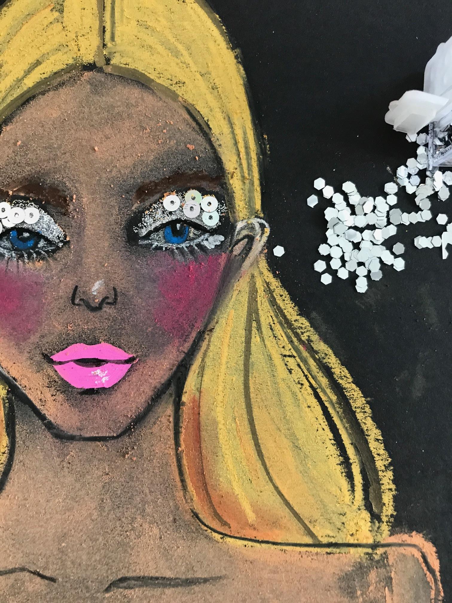 Rongrong DeVoe's Beauty Illustration inspired by francesco scognamiglio SS18 Milan fashion week.JPG