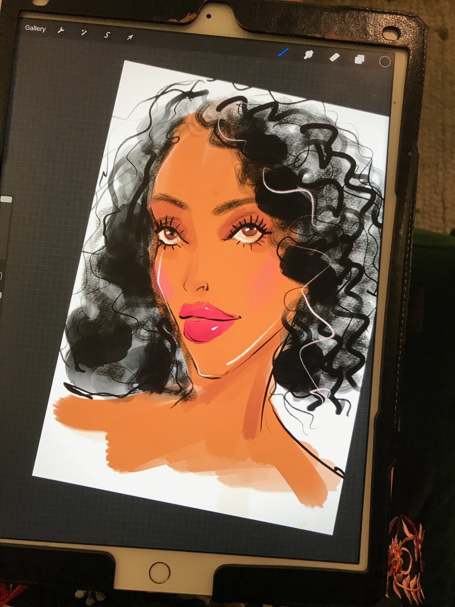 Beauty Illustration by Rongrong DeVoe use Procreate and Ipad Pro.JPG