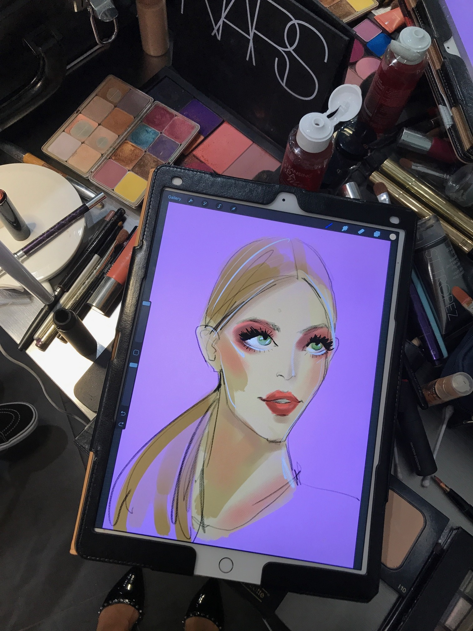 Beauty Illustration at FashionXHouston by Rongrong DeVoe use Procreate and Ipad Pro.JPG