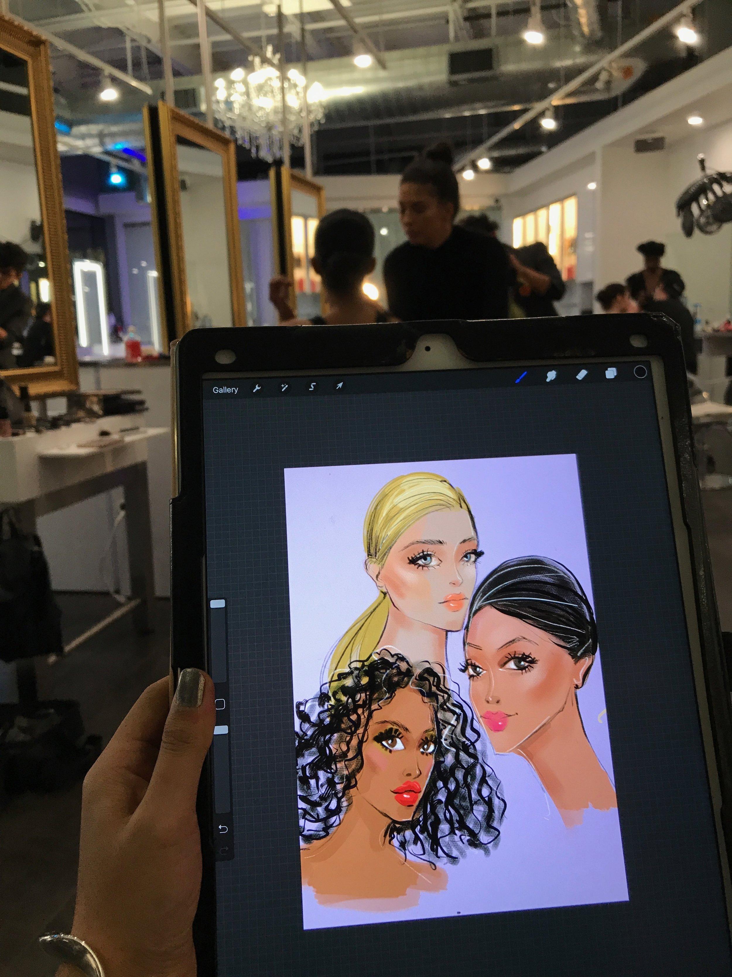 Beauty Illustration by Beauty Illustrator Rongrong DeVoe use Procreate and Ipad Pro at FashionxHouston.jpeg
