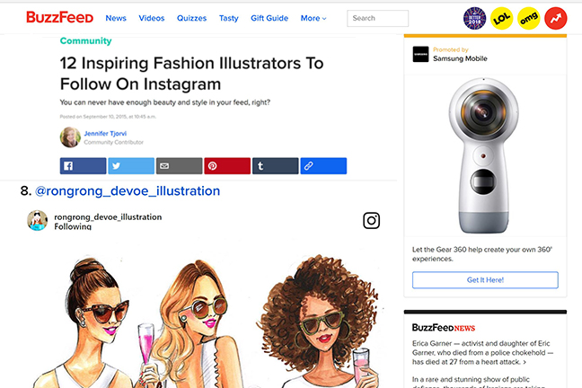 BuzzFeed features instagram fashion illustrator Rongrong DeVoe.jpg