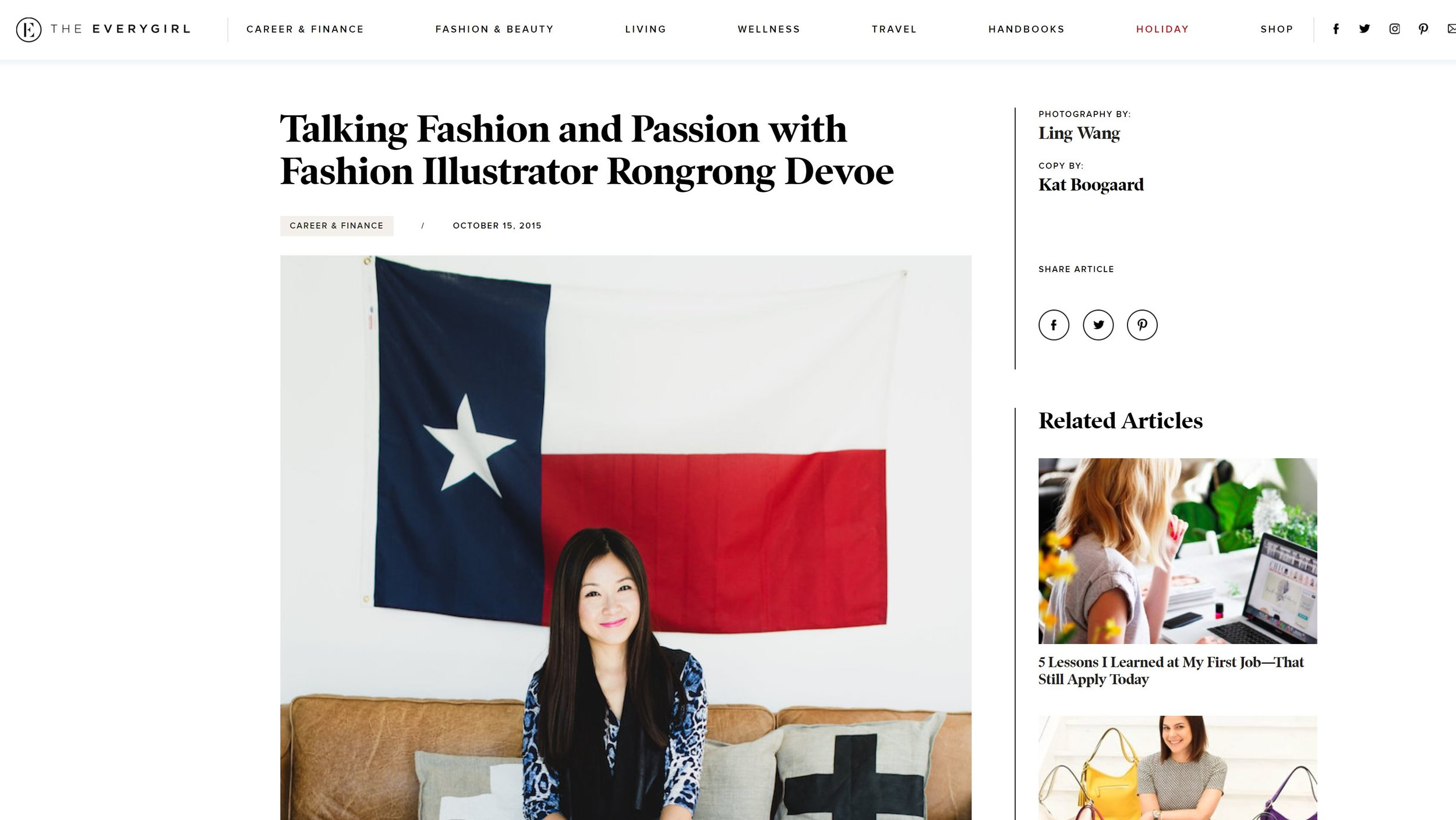 The EveryGirl features fashion illustrator Rongrong DeVoe.JPG