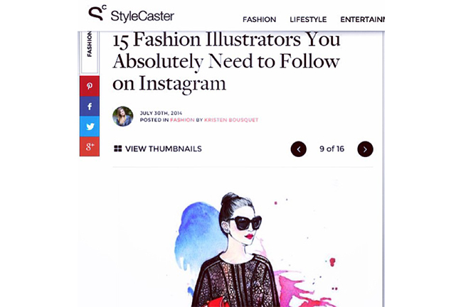 Style Caster features rongrong devoe as fashion illustrator to follow on Instagram.jpg