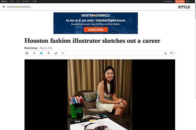Houston Chronicle features Houston artist Rongrong DeVoe.JPG