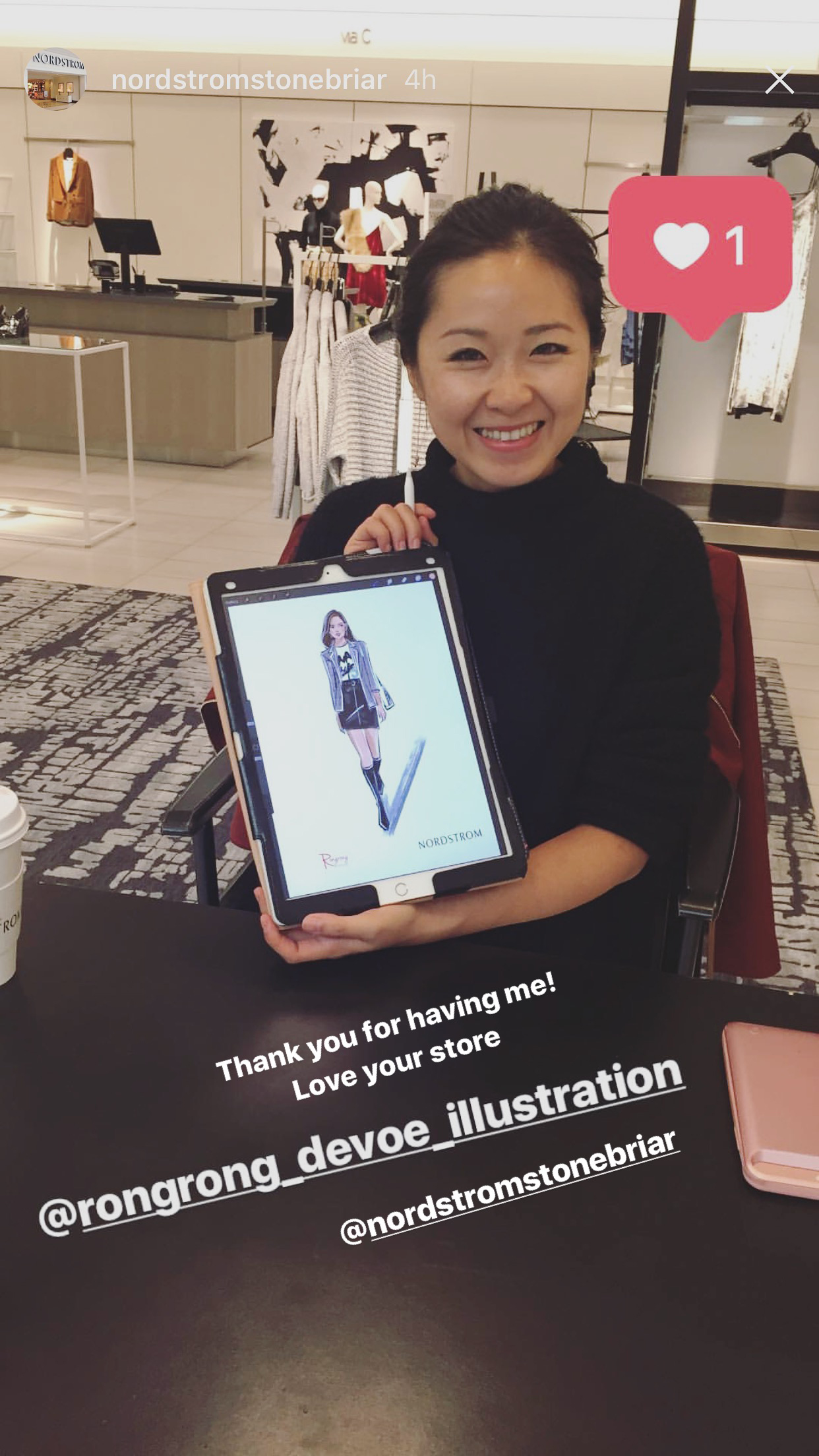 Live fashion sketching at Nordstrom dallas event by Rongrong DeVoe on Instagram.jpg