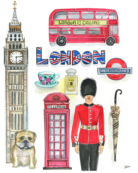 London watercolor illustration by Rongrong DeVoe.JPG