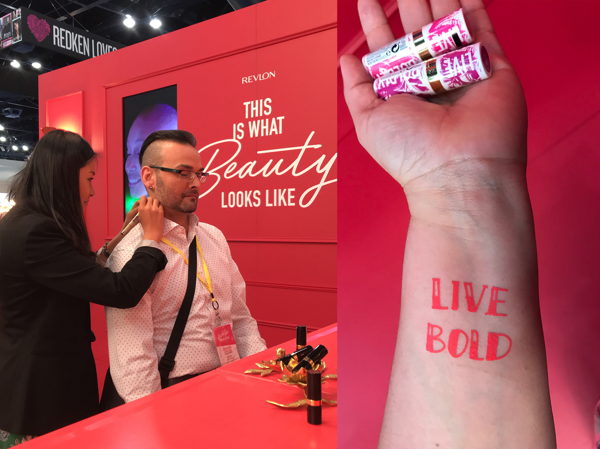 Rongrong DeVoe Live painting tatoos for Revlon at Ulta Beauty Conference.jpg
