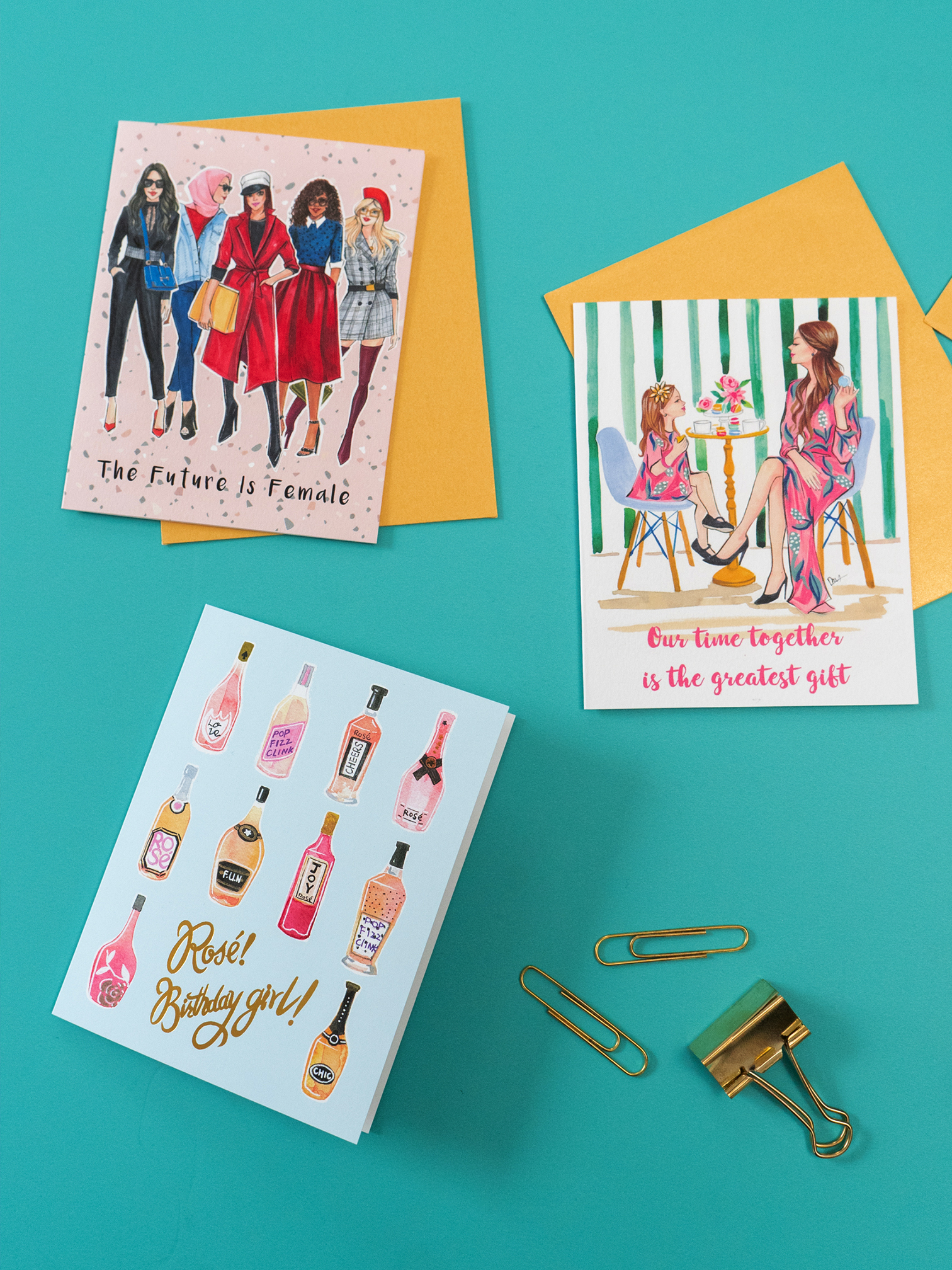 Rongrong DeVoe fashion illustrated stationery for girl friends.JPG