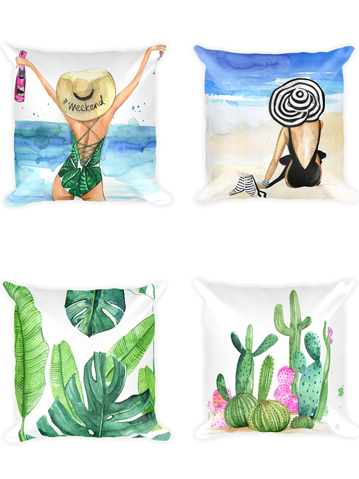 Fashion chic illustration pillows design for art licenisng by rongrong devoe.jpg