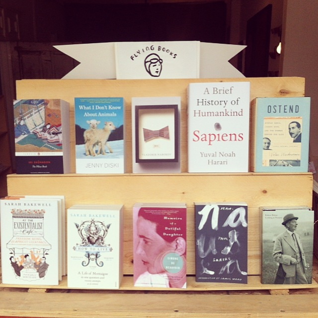 Top shelf selected by Sarah Bakewell