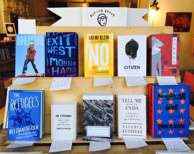 Flying Books at the Weekend Variety, 1080 Queen St W