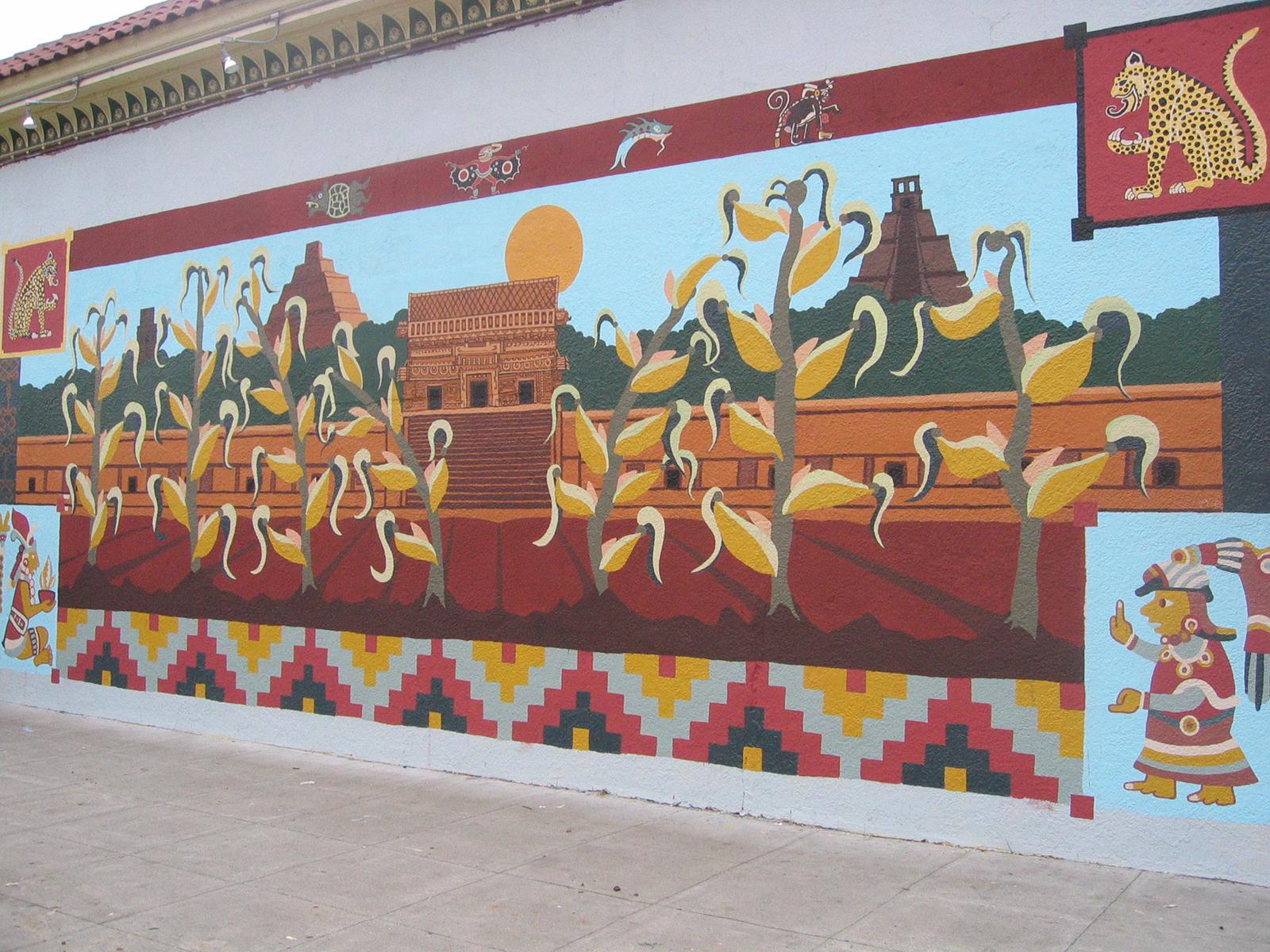 Mural at La Palma Mexicatessen,24th and Florida, SF, CA