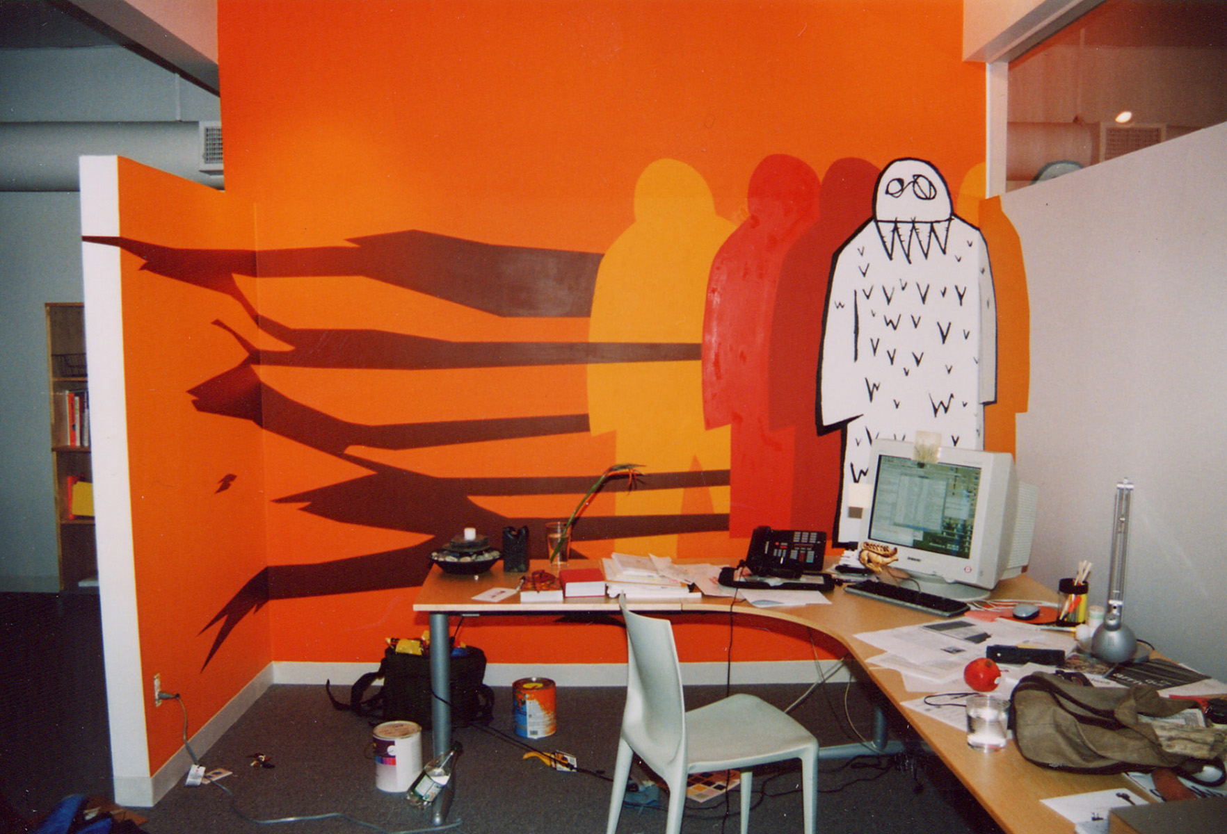 Mural at the offices of Dwell Magazine, SF, CA.