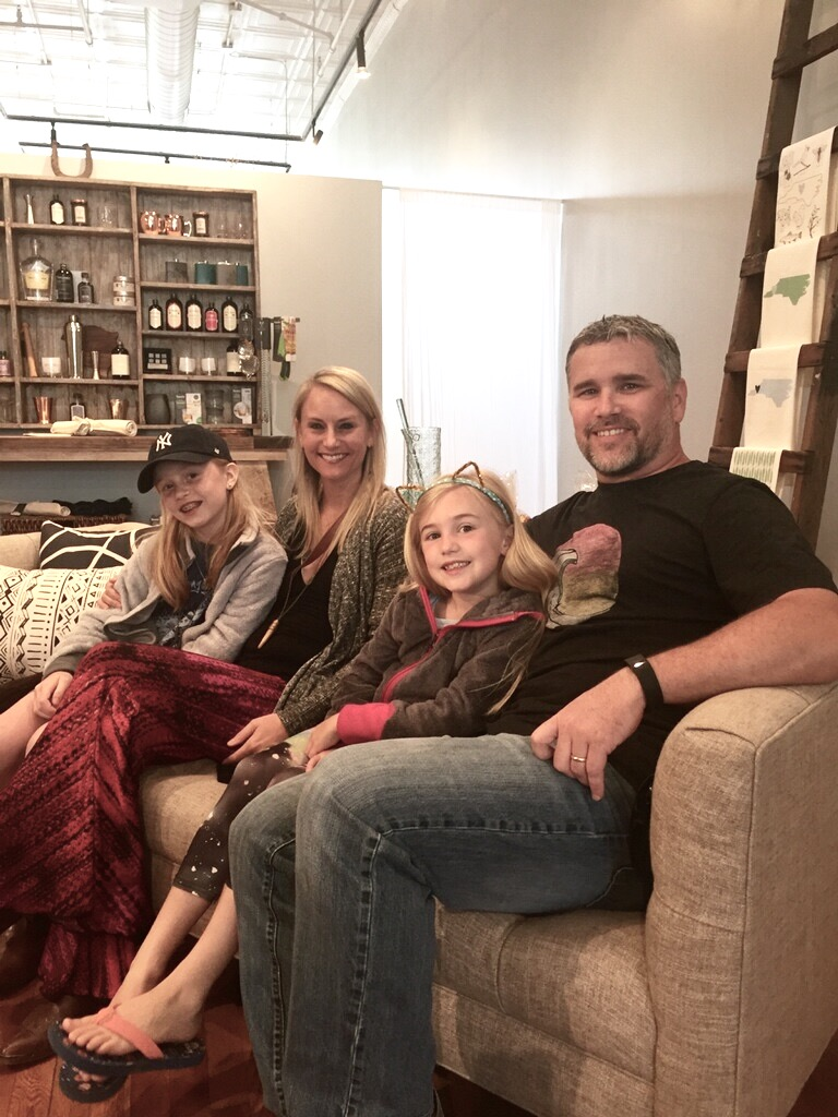 Melissa here at embellish with her two daughters, Logan and Austyn and husband Brian.
