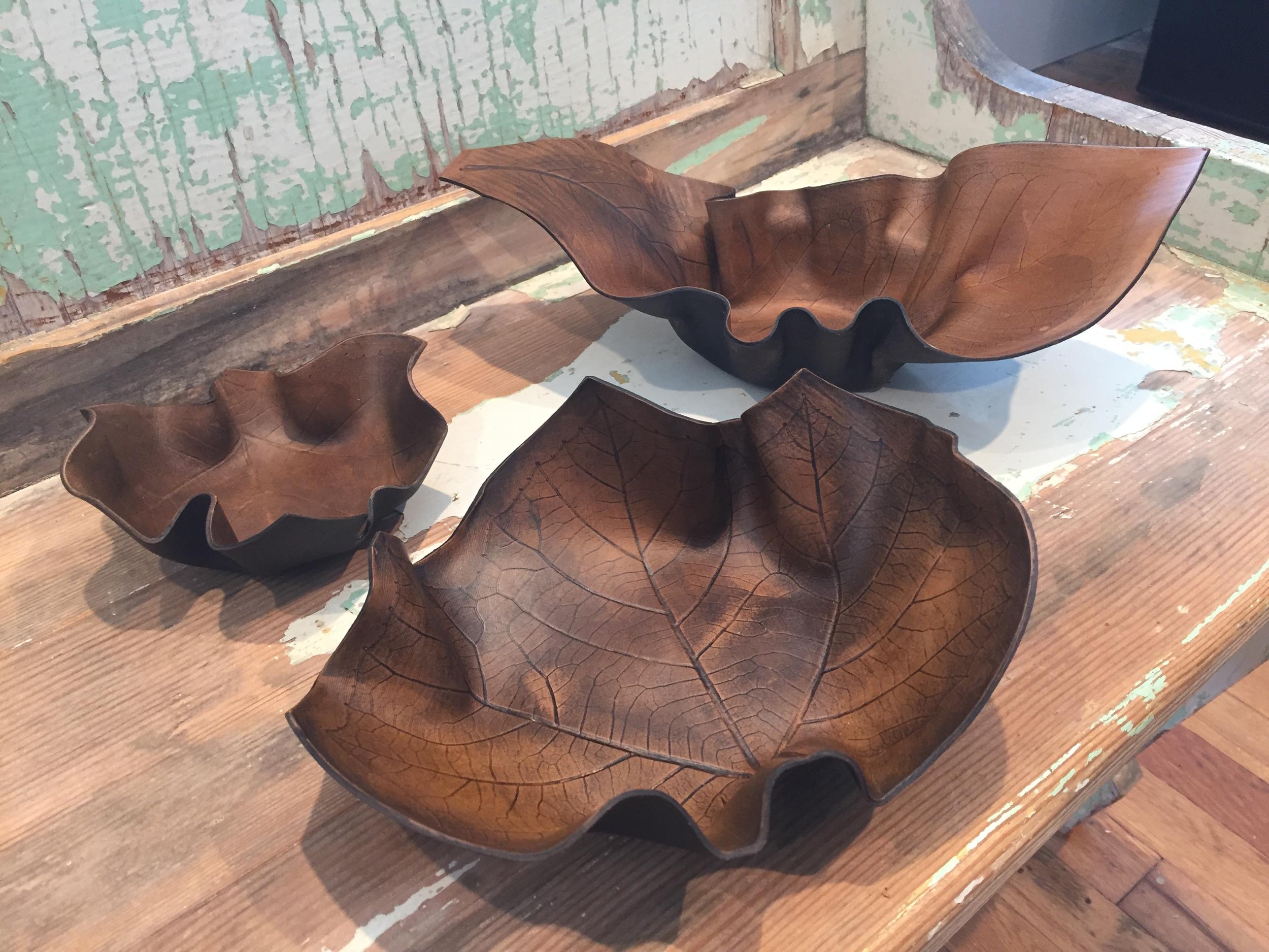 Conduit-Press Leaf Pressed Leather