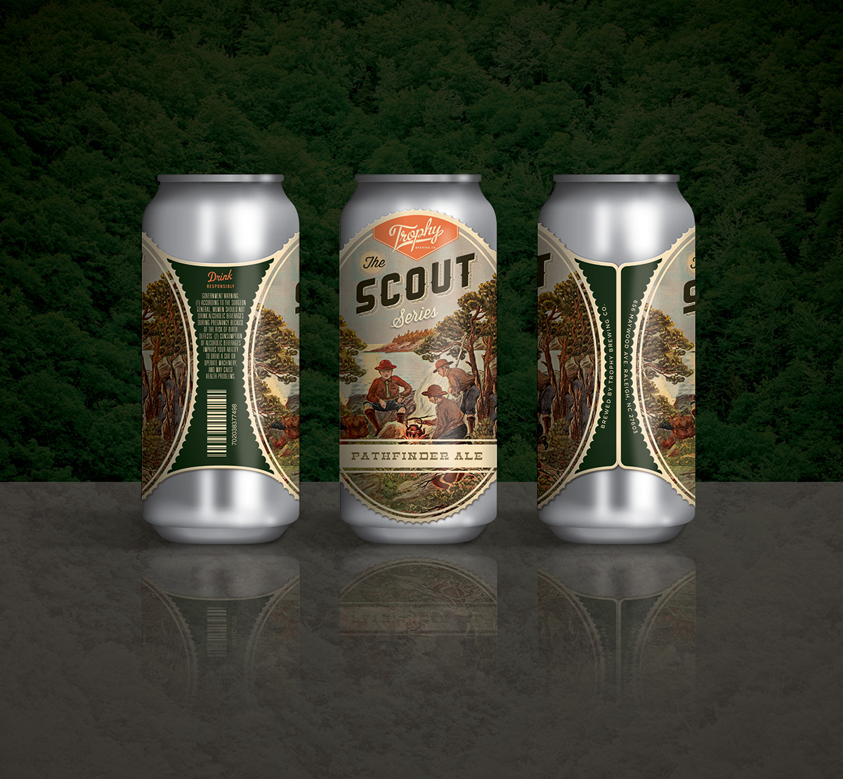 3. Mocked up on a can (full wrap)