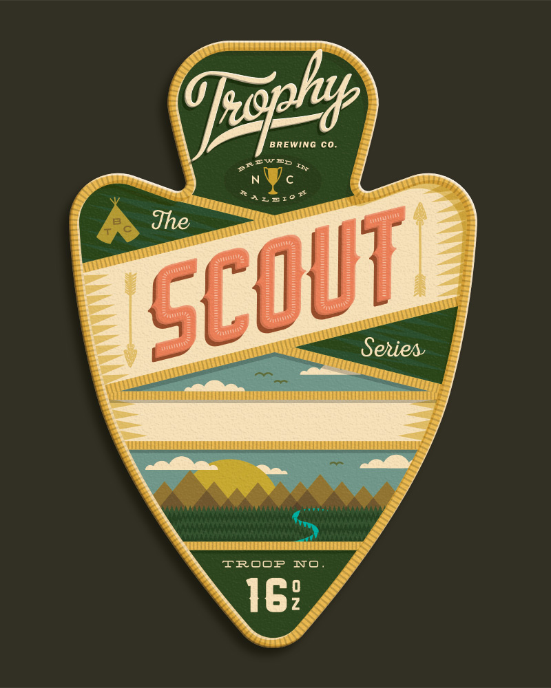 4. This is a traditional arrowhead shaped patch. These patch label would require a custom die.