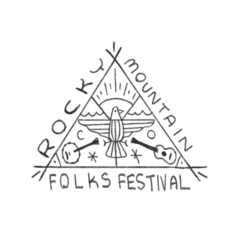 An illustrated triangle badge