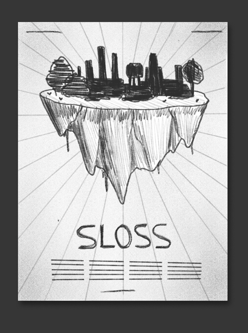 The furnaces become their own little world during sloss fest - so why not illustrate them as an island floating in space?
