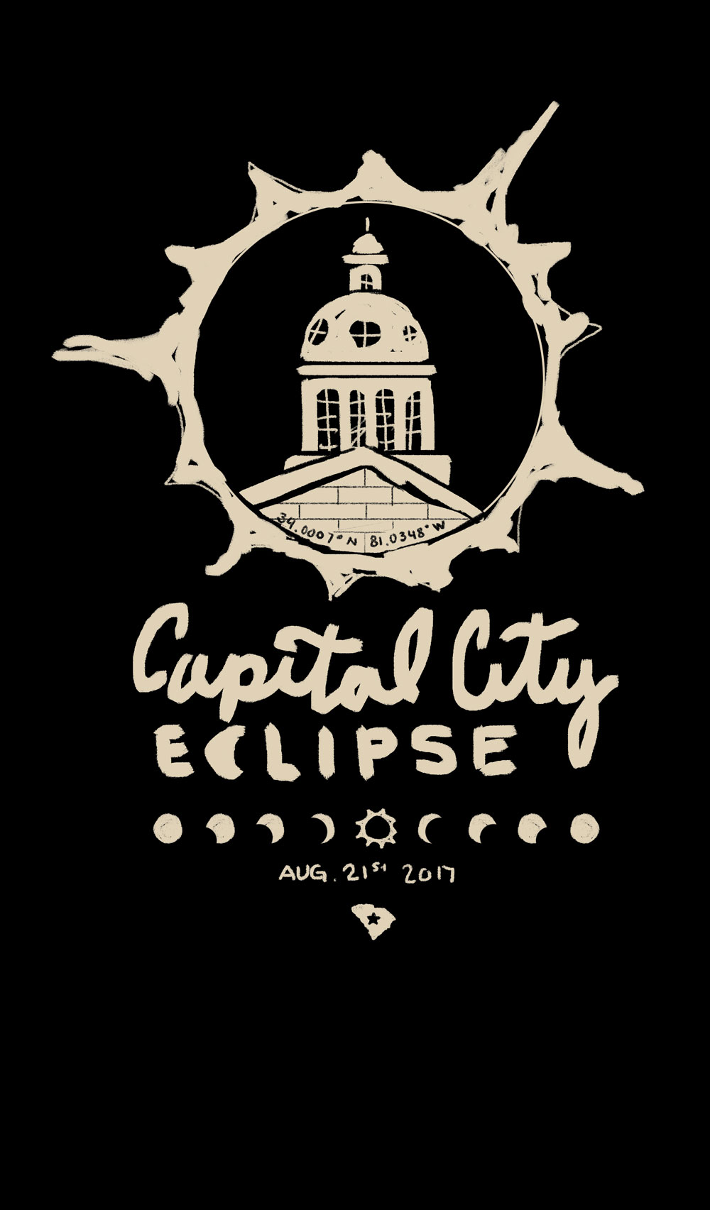 1. This one uses the State House contained in a total eclipse.