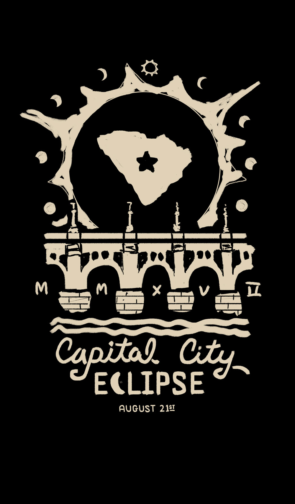 3. This is another variation of the bridge concept, but with the type below, the state in the eclipse, and the phases around the eclipse.