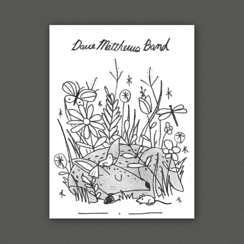 A really bucolic & peaceful scene with a baby deer surrounded by various other flora + fauna. I think this could be great in a style inspired by vintage childrens books illustrations.   Style Reference