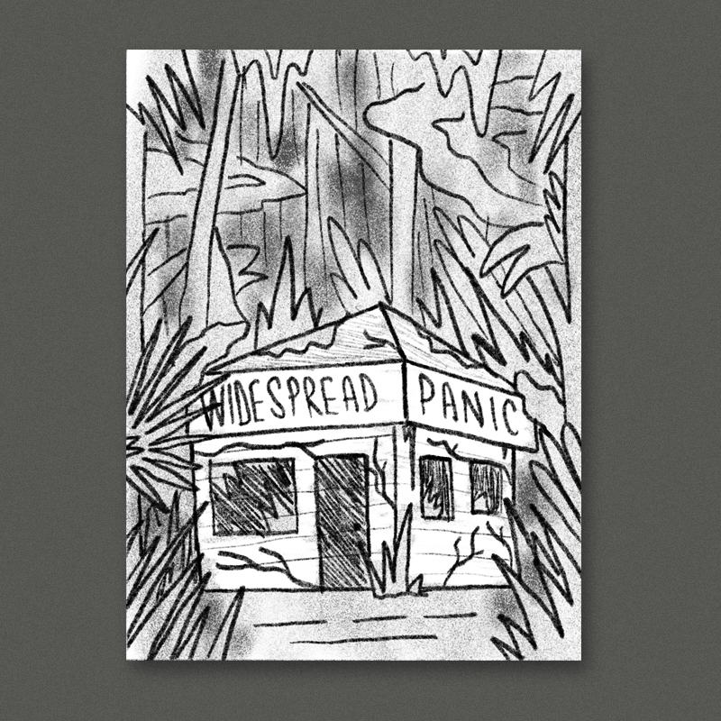 A crusty abandoned shack in a dense florida rain forest. Would be cool to pack this one with a large variety of different foliage shapes and textures and other little details - maybe a few critters luring around.