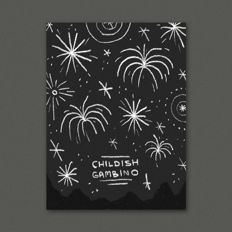 I've been really into these  old japanese woodcuts of fireworks  lately and thought that something inspired by them could work for this since fireworks and america go hand in hand. A really bold graphic approach could be great here with a variety of colorful, illustrated explosions filling up the poster done in a simple folk-art inspired style.