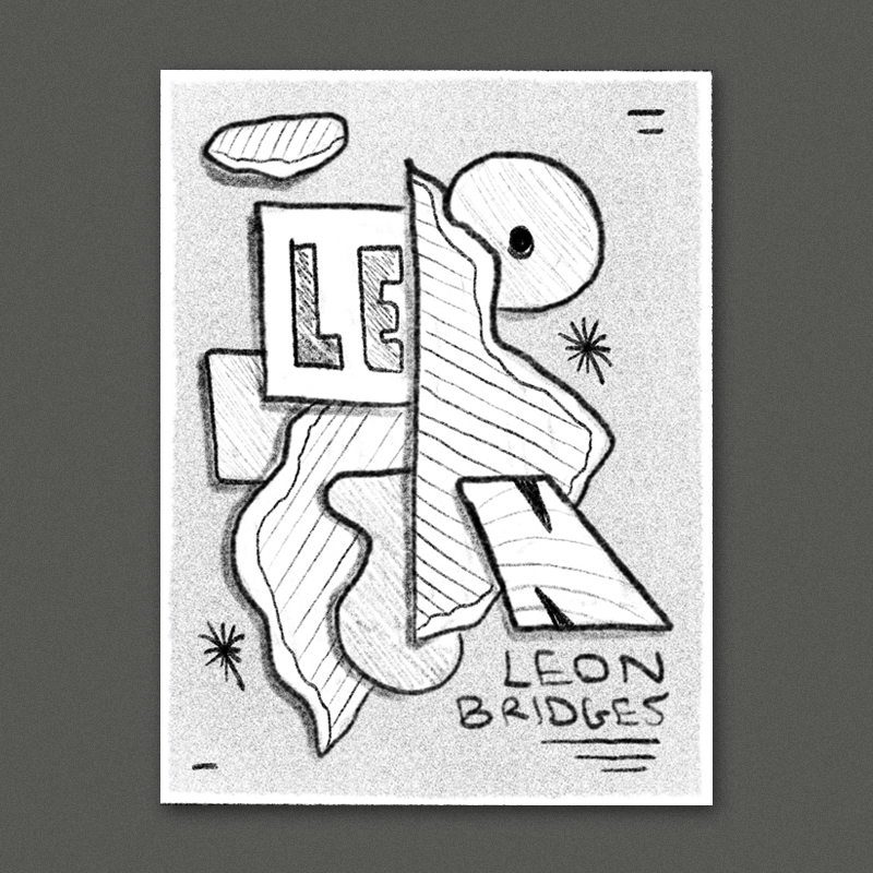 Another collage idea - this time with some of the different pieces spelling out LEON.