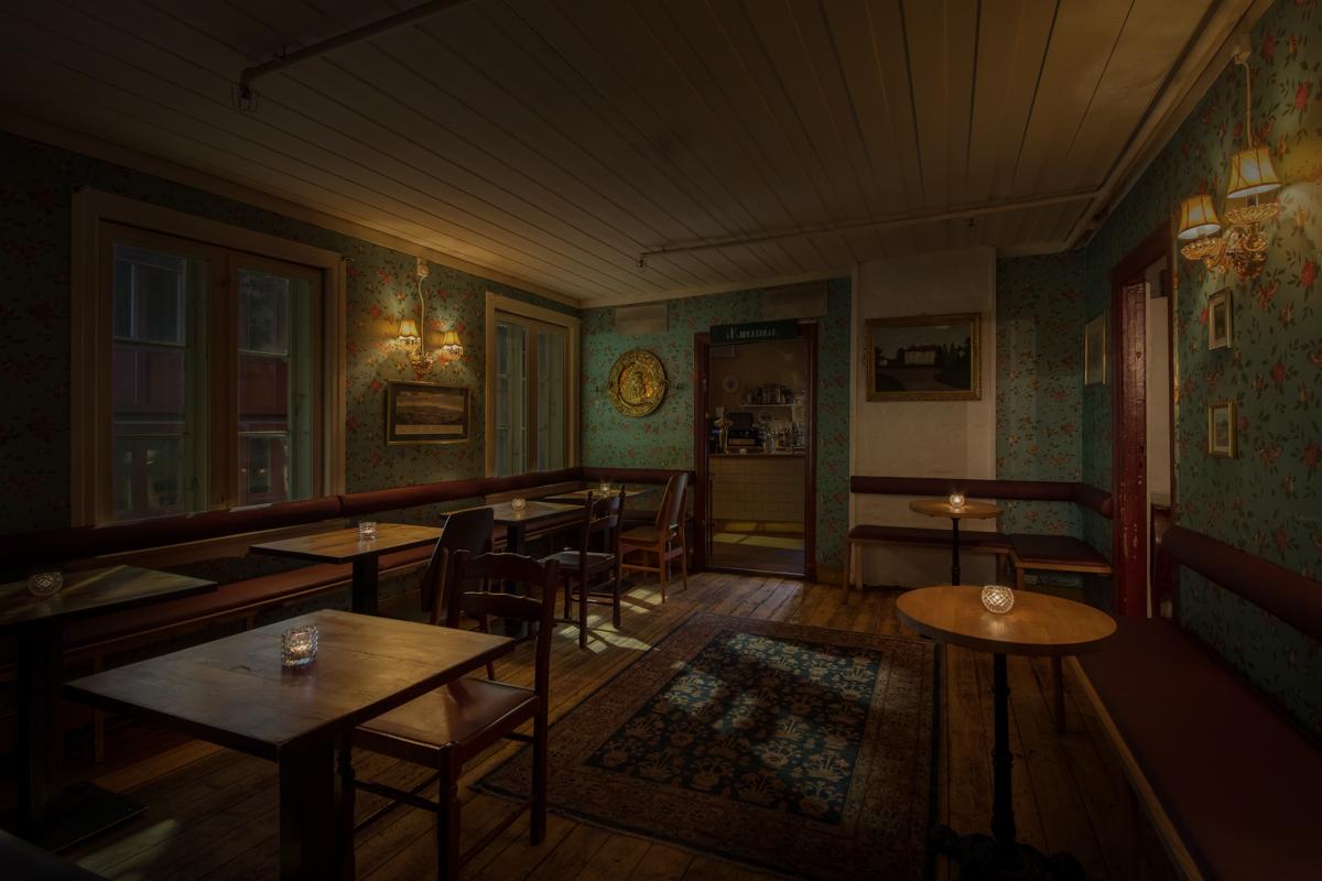 Stilig, autentisk interiør i Salongene