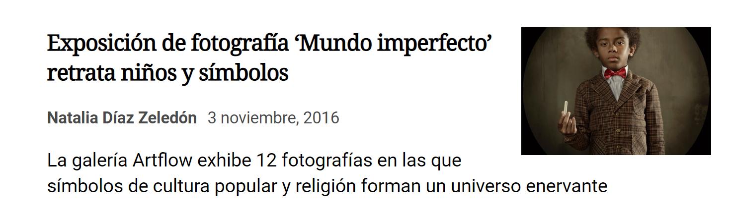 Mundo imperfecto en La Nación