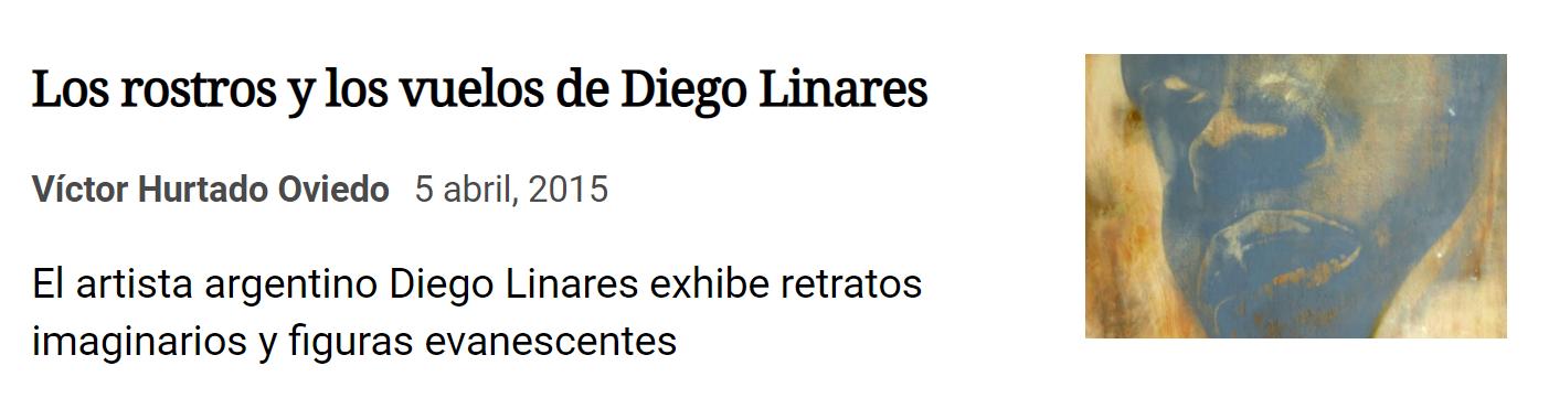 Diego Linares exhibe en Artflow en La Nación