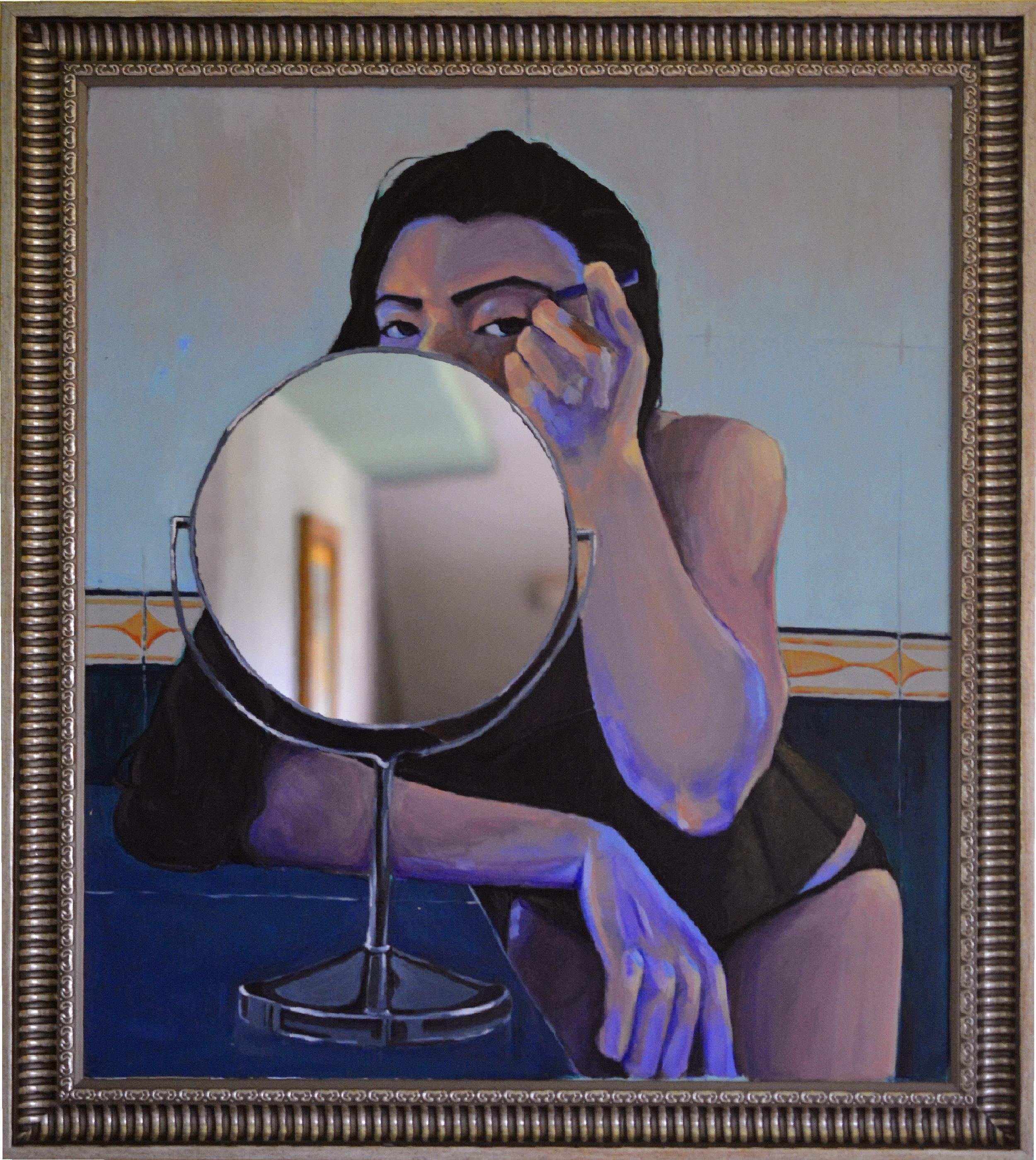 Cara a cara Elisa Lobo.2018 Acrílico sobre espejo  Autorretrato  68 cm × 58 cm San José, Costa Rica.jpg