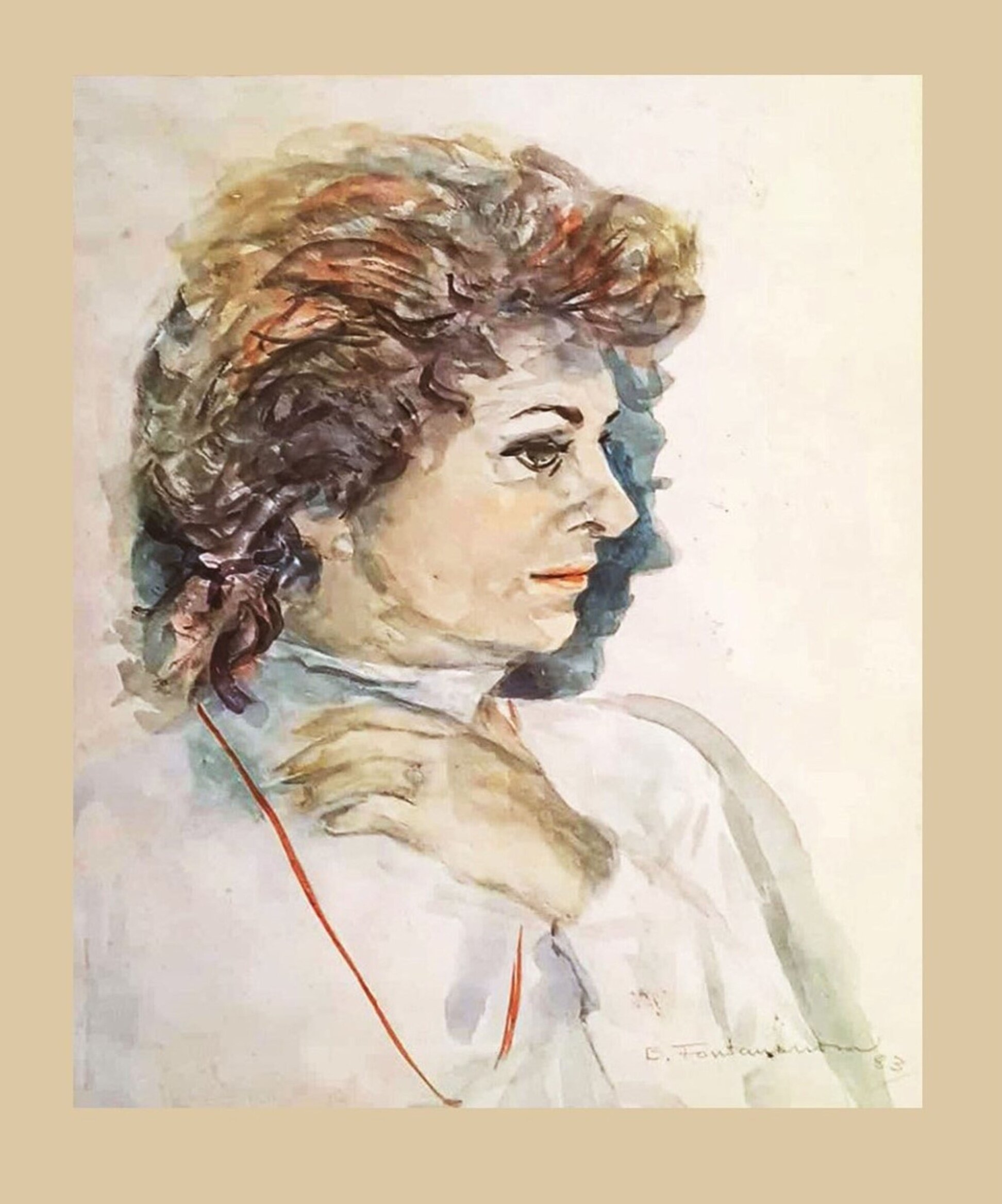 BLANCA FONTANARROSA, AUTORRETRATO, ACUARELA SOBRE PAPEL FABRIANO, 54 X 45 CM. 1983.jpg