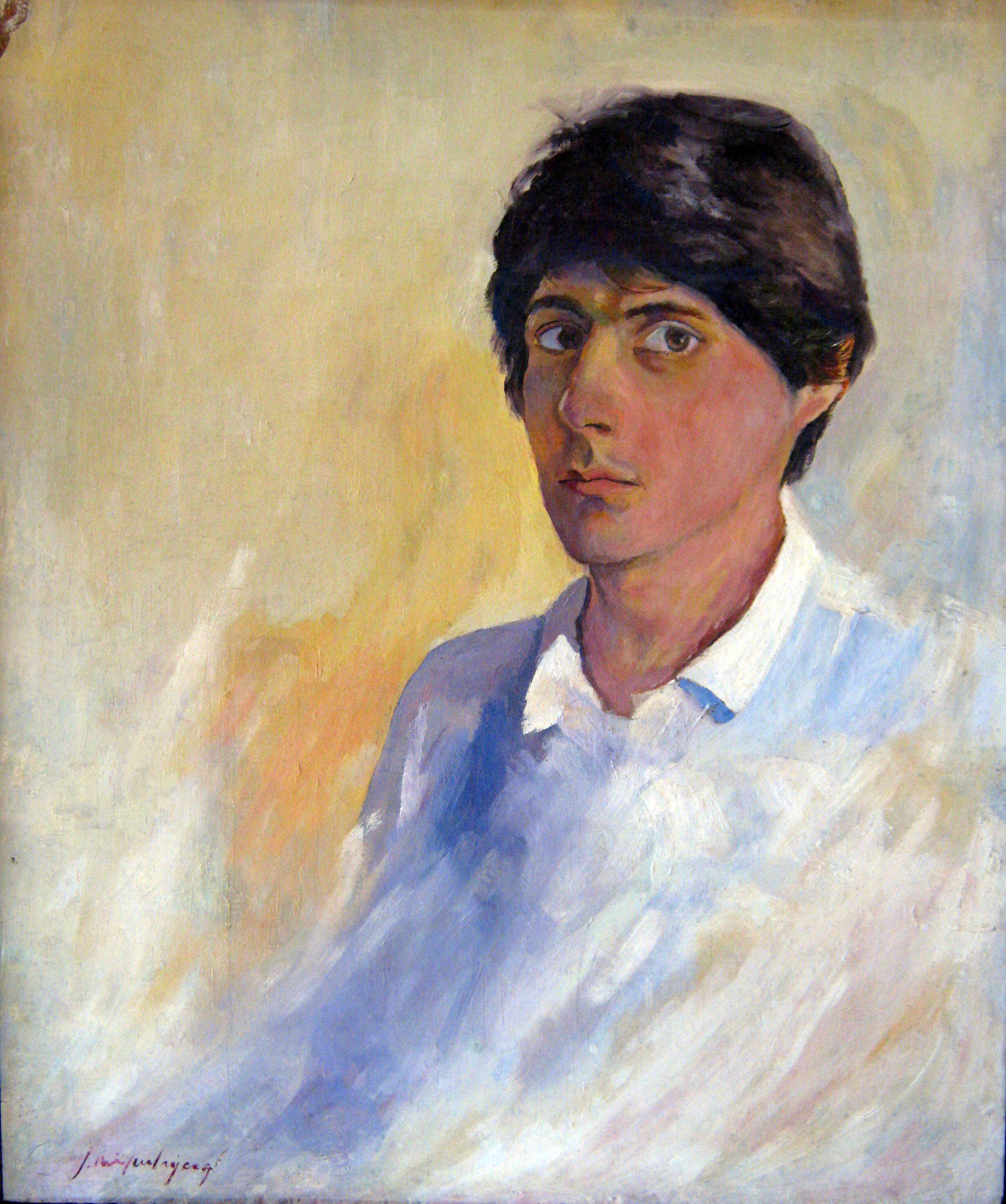4. José Miguel Rojas Autorretrato, óleo sobre madera, 60 x 49.5 cm. 1980.JPG