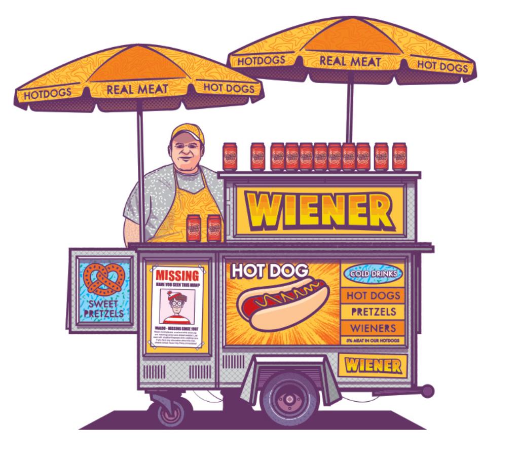 Vector City Hot Dog