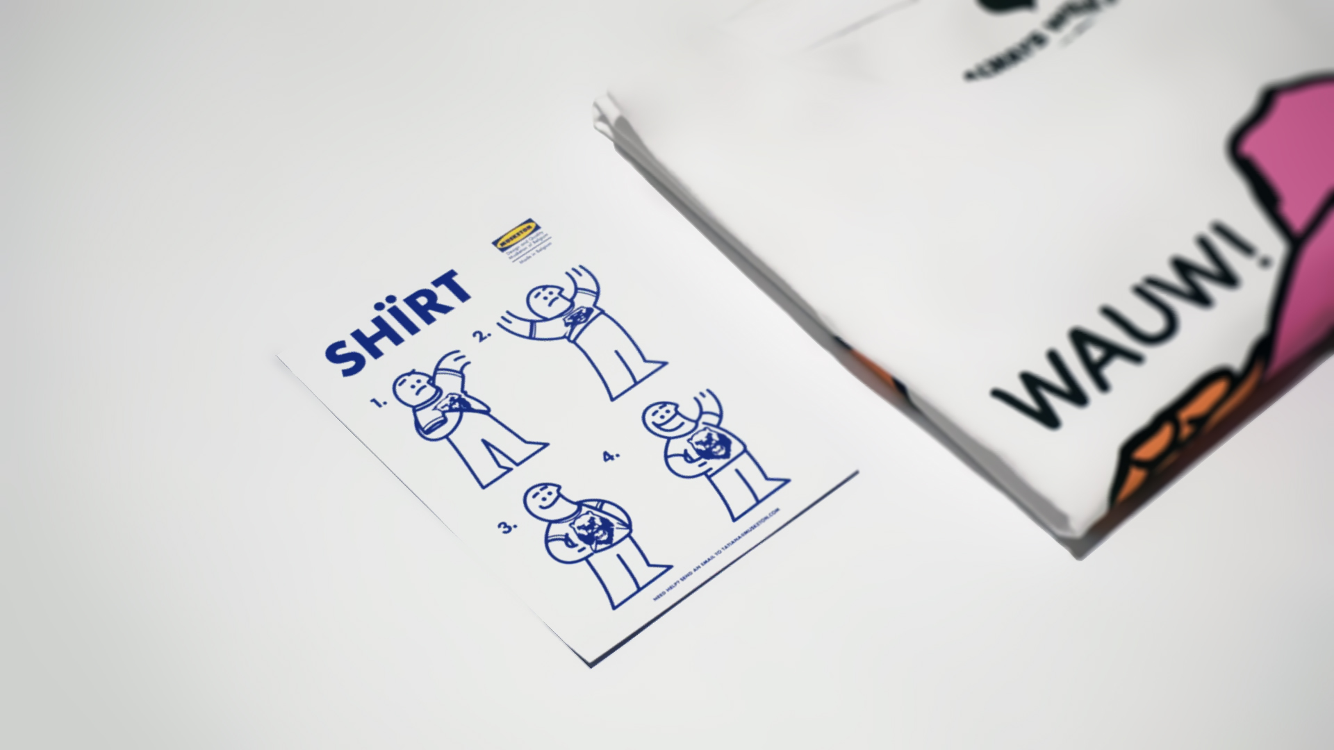 The manual - Since we got a lot of emails from people asking how they should use a t-shirt each shirt ships with a manual on how to use a t-shirt.