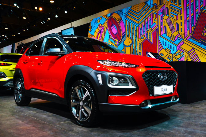 Hyundai KONA - Artwall created for the Hyundai KONA release at the Brussels Motor Show in 2018.