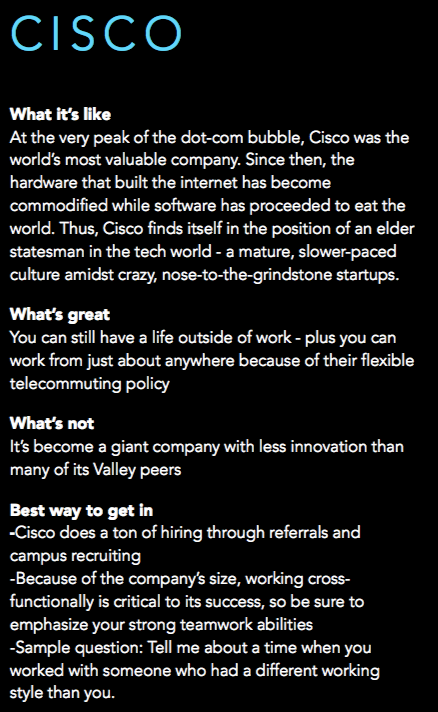 What it's like to work at Cisco