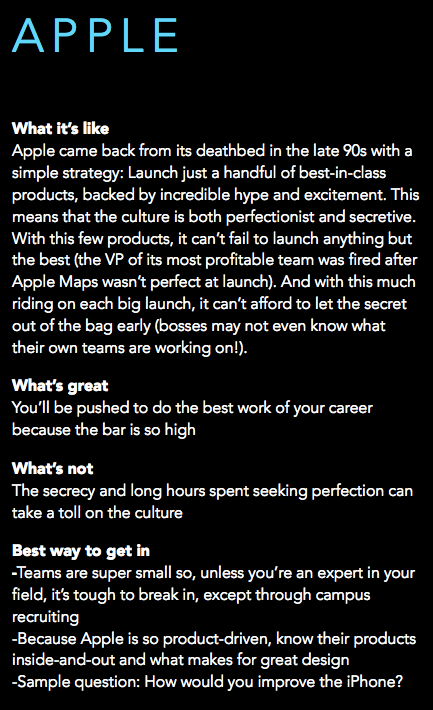 What it's like to work at Apple