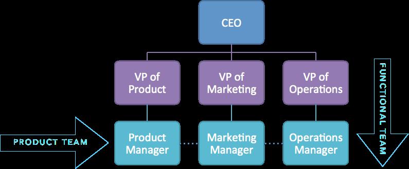 A typical tech org chart