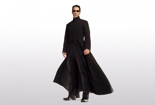 And not even a cool, Matrix-y cloak...