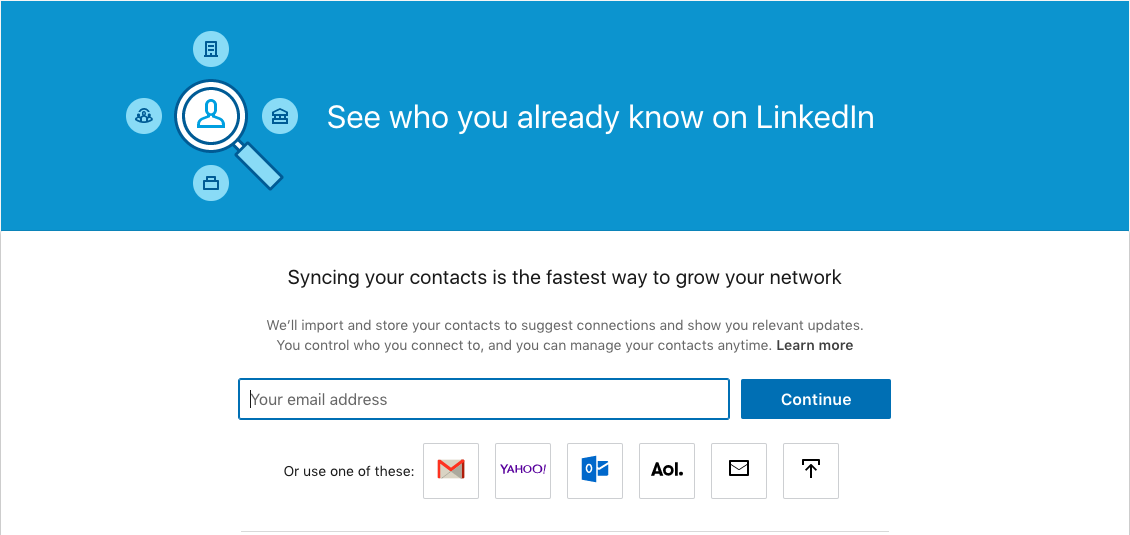 LinkedIn Address Book Import