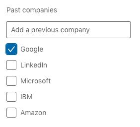 Past Companies on LinkedIn